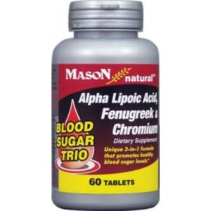 BLOOD SUGAR TRIO: ALPHA LIPOIC ACID, FENUGREEK & CHROMIUM TABLETS